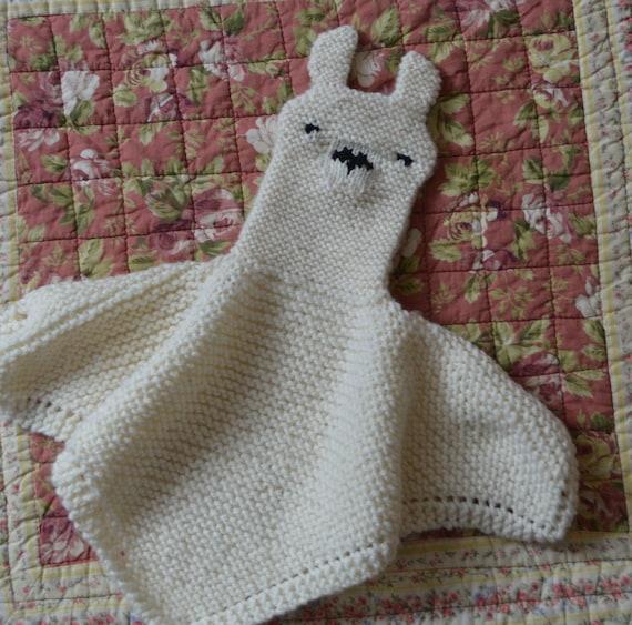 Pdf Knitting Pattern Llama Security Blanket Lovey Puppet Etsy