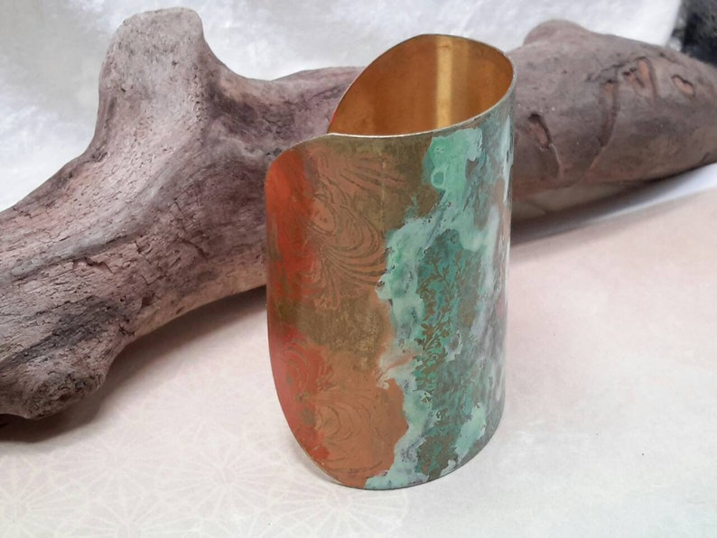 Metal Etched Cuff Bracelet