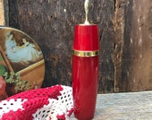 Vintage Avon Charisma Perfume Bottle Red Glass Empty Collectible