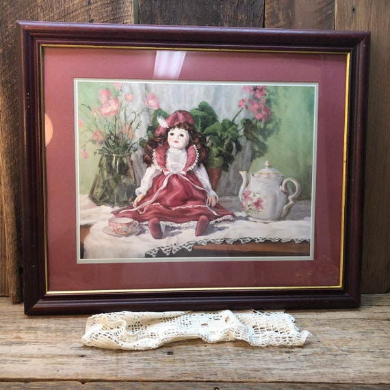 Tea Times Picture Home Interiors Gifts German Doll Victorian