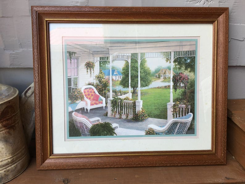 Home Interior And Gifts Picture Victorian Porch Summer Large Etsy