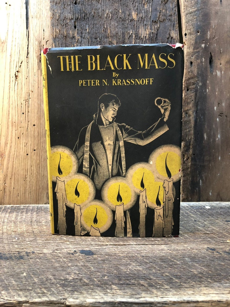 The Black Mass by Peter N  Krassnoff/1931/Hard Back/Dust Jacket