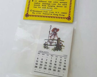 DOLLHOUSE New In Package Vintage Antique-Replica 1900 Miniature Calendar by Merrimack Publishing