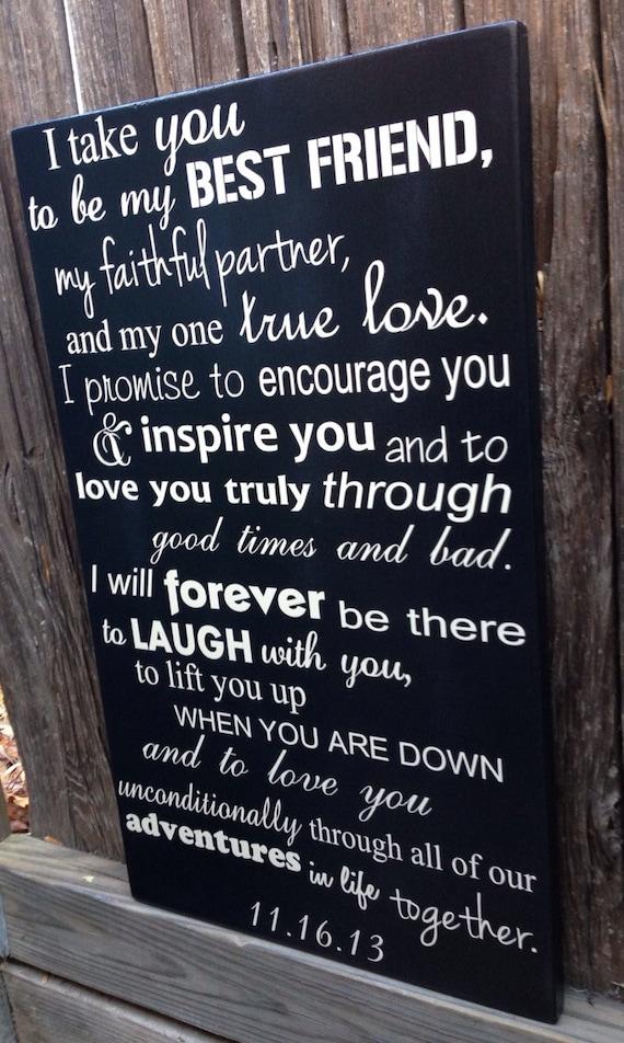 Twenty Fifth Wedding Anniversary Gift Ideas: 5th Anniversary Gift Fifth Anniversary Gift Wedding Vows Sign