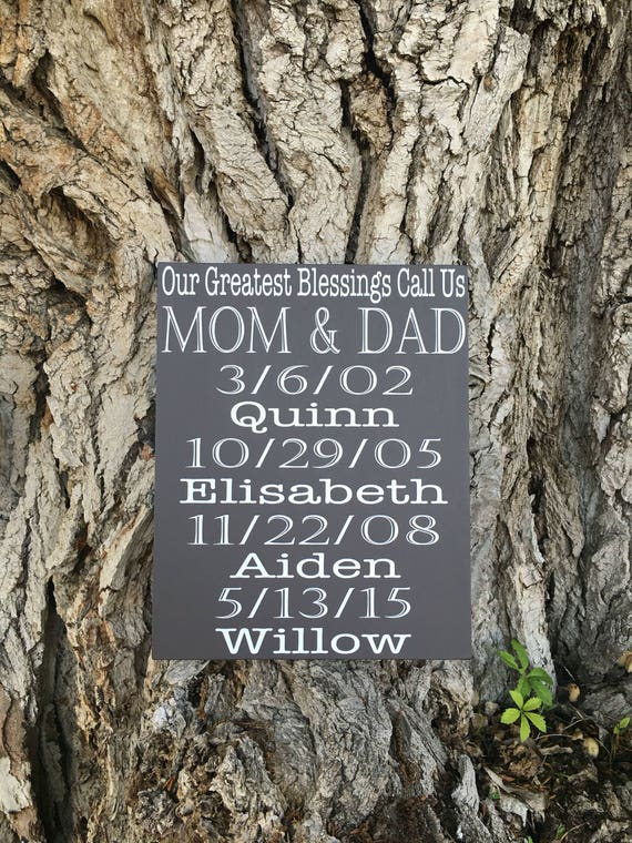 My Greatest Blessings Call Me Mom And Dad Birthday Gift For