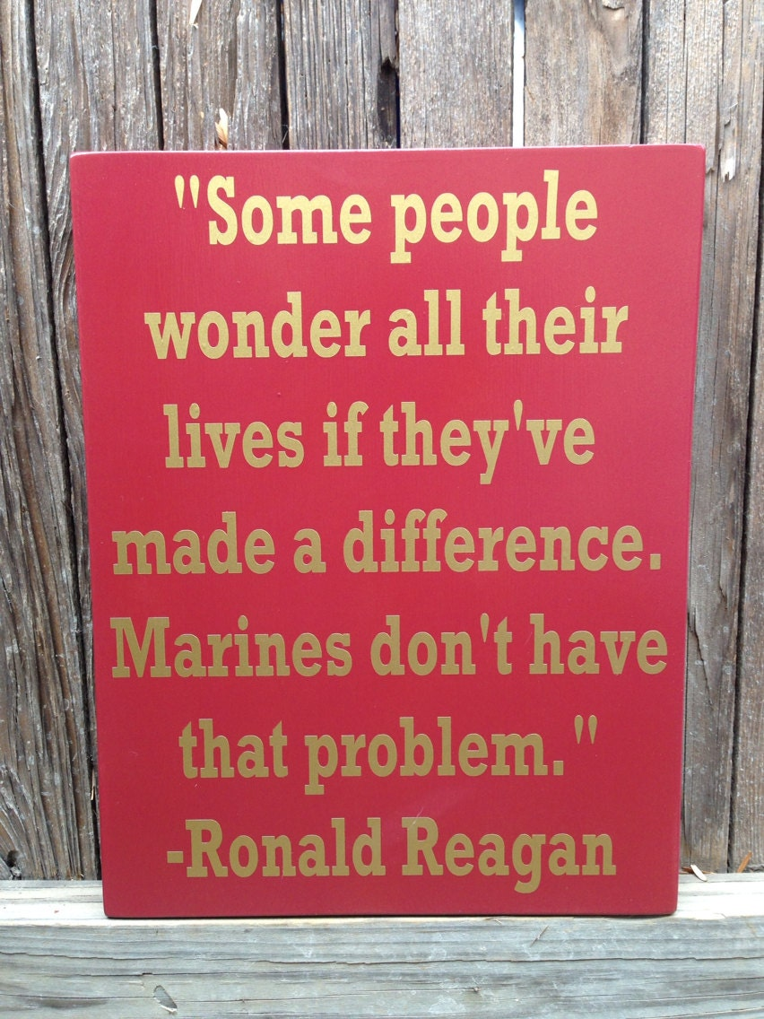 US Marine Corps USMC Ronald Reagan Quote Wood Sign 12 x | Etsy