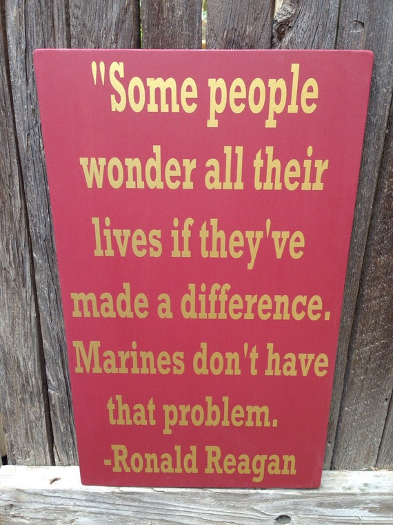 Gift For Veteran Us Marine Corps Usmc Ronald Reagan Quote Wood Etsy