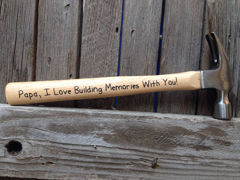 Personalized Fathers Day Gift for Papa First Fathers Day Fathers Day Gift from Daughter Paw Paw I Love Building Memories with You Hammer