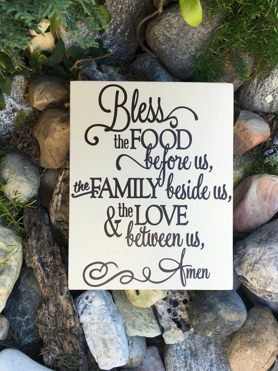 Bless the Food Before Us Sign Kitchen Wall Decor Wood Sign | Etsy