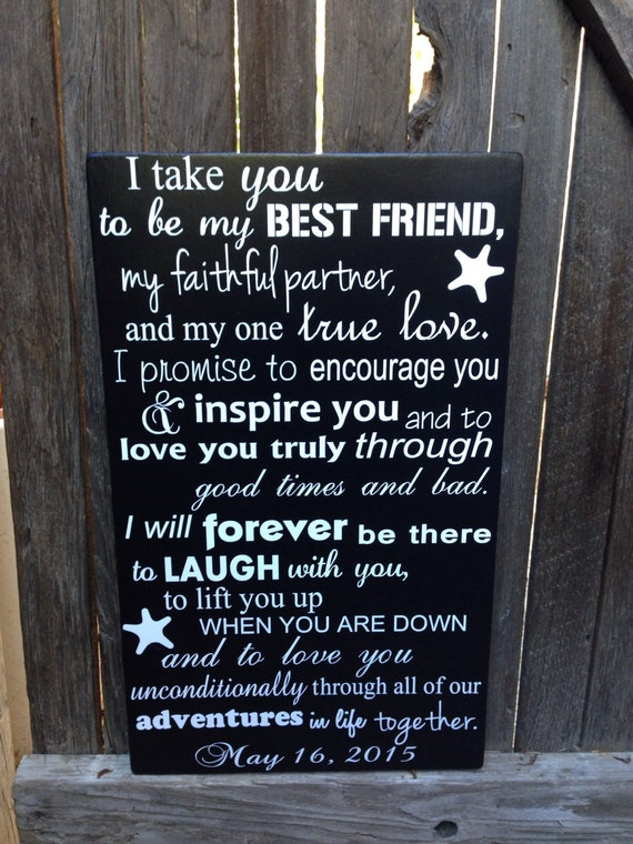 Nautical Wedding Vows Sign Nautical Wedding Decor Beach Etsy