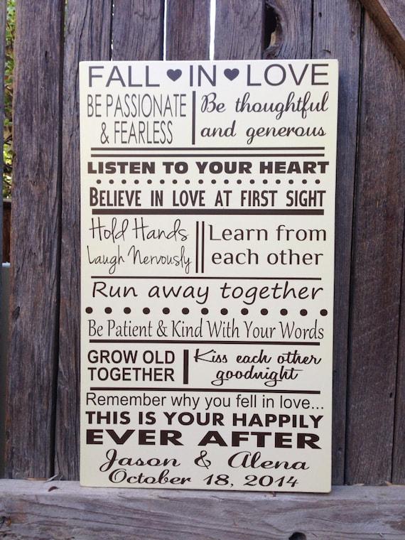 Personalisierte Ehe Regeln Hochzeitsgeschenke Fur Das Paar Etsy