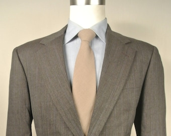 Hickey Freeman Charcoal Striped 100% Worsted Wool 2 Pc Lounge Suit Size: 41R