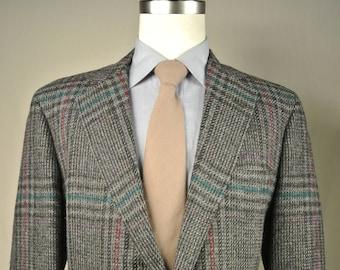 Corbin Gray Striped 100% Wool Two Button Sport Coat Men's Size: 40R