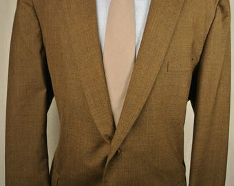 1970's Tempo Brown Wool Two Button Two Piece Lounge Suit Men's Size: 46R