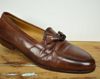 8ecd47f443b Johnston   Murphy Brown Moc Toe Tassel Loafer Men s Size  9D