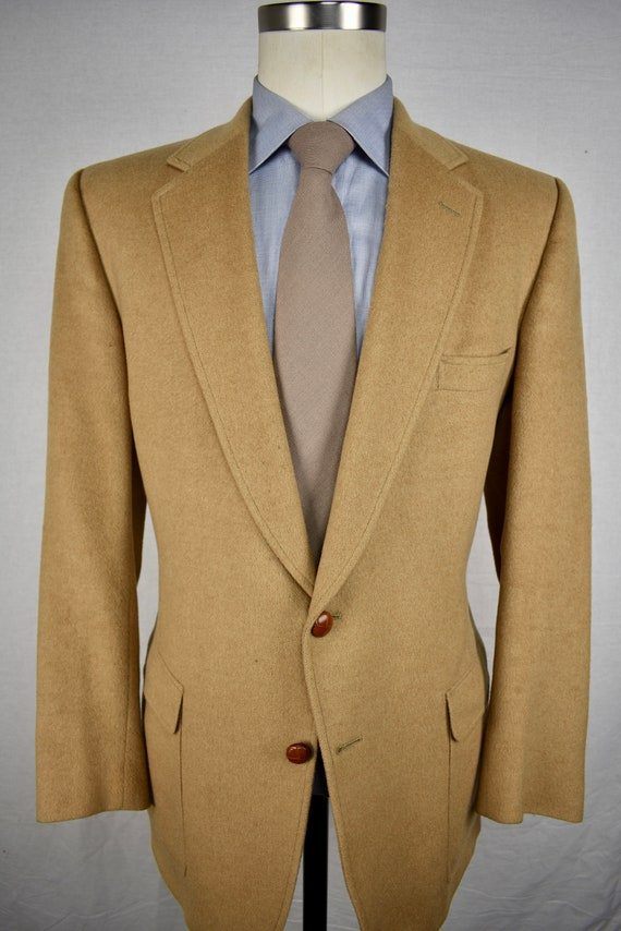 Austin Reed Solid Light Brown 100 Camel Hair Two Button Sport Etsy
