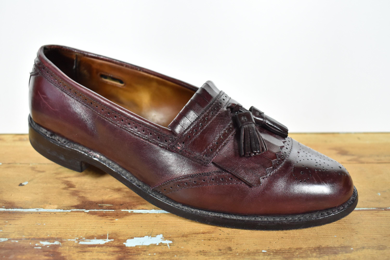 3e342803eb1b8 Allen Edmonds Bridgeton Merlot Tassel Loafer W/ Brogued Detailing On Toe  And Kiltie Size: 11D