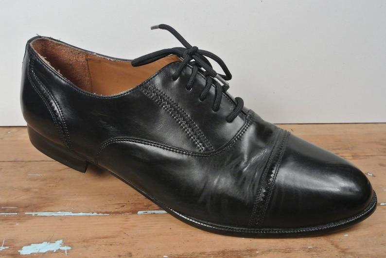 ebad6179599 Giorgio Brutini Solid Black Cap Toe Balmoral Men s Size