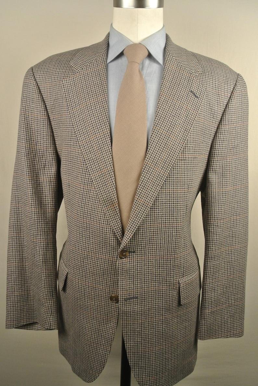 328353a0f Ralph Lauren Polo University Club Beige Tan Houndstooth Wool