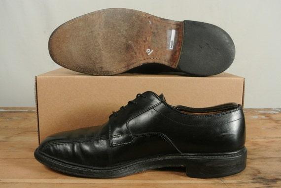 Allen Edmonds Hillcrest schwarzes Fahrrad Fuß schnüren Blucher Herren Größe: 10D