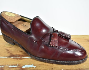 Allen Edmonds Grayson Oxblood Moc Toe Tassel Loafer Men's Size: 9D