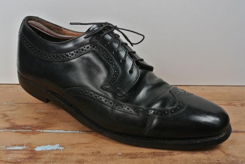 ca3b7f9c681 Johnston   Murphy Solid Black Wing Tip Blucher Men s Size