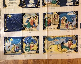 Little Light Fabric Story book panel