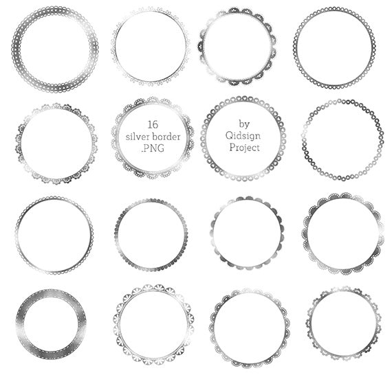 BUY2GET1FREE 16 Silver Round Border Gold Lace Border for ...