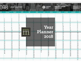 editable monthly planner 2018 indesign template