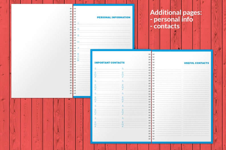 Weekly Planner 2021 InDesign Template Half Letter size ...