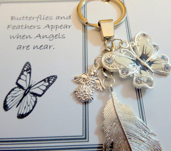 Butterflies and Feathers Appear when Angels are Near Remembrance Bookmark Gift