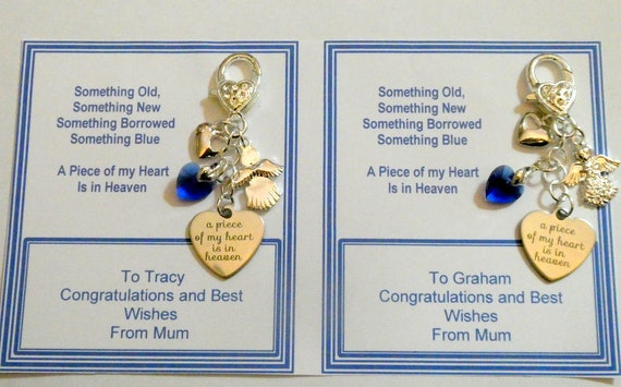Something Blue Bride To Be Traditional Keepsake Keyring Chain Bag Charm