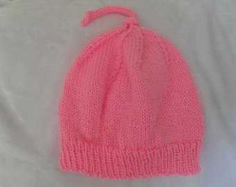 Baby girl knitted hat