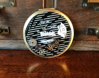Upcycled Repurposed Vintage Stratton Powder Compact, Gifts for Christian Women
