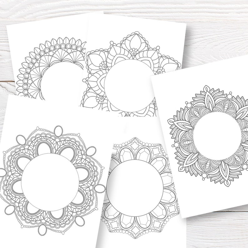 photo regarding Printable Coloring Christmas Cards named Printable coloring Xmas mandalas. Greeting card coloring template.Reward for young children in direction of Xmas