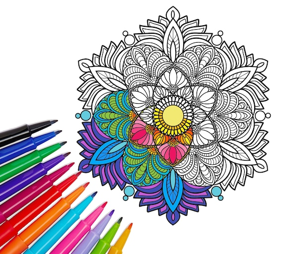 Adult Coloring Pages, Coloring Book, Christmas Gift, Printable Coloring  Pages, Mandala Coloring Pages, Instant Download, Coloring Book Adult