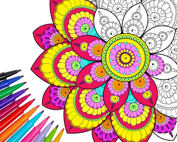 coloring pages : Mandala Coloring Book For Adults Pdf ...   459x570