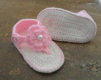 Flip Flop Knit Baby Sandal Etsy