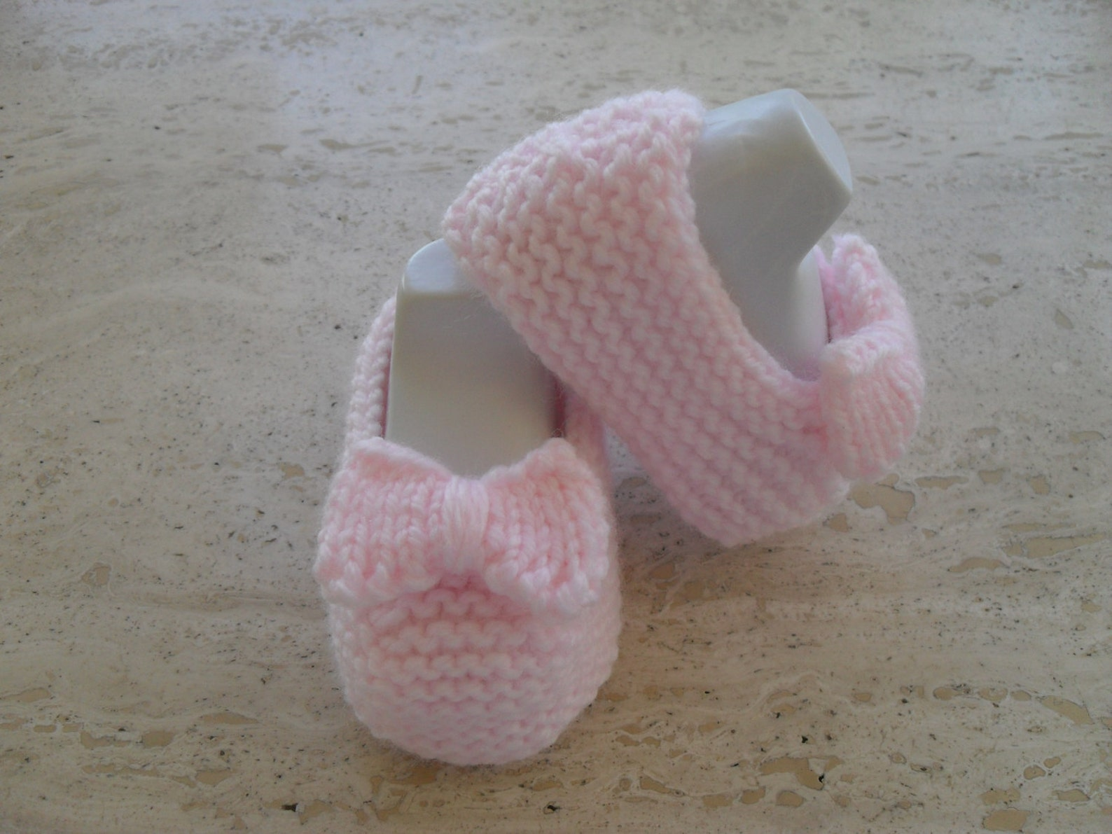 instant download knitting pattern ballet slipper, baby shoes quick and easy makes three sizes