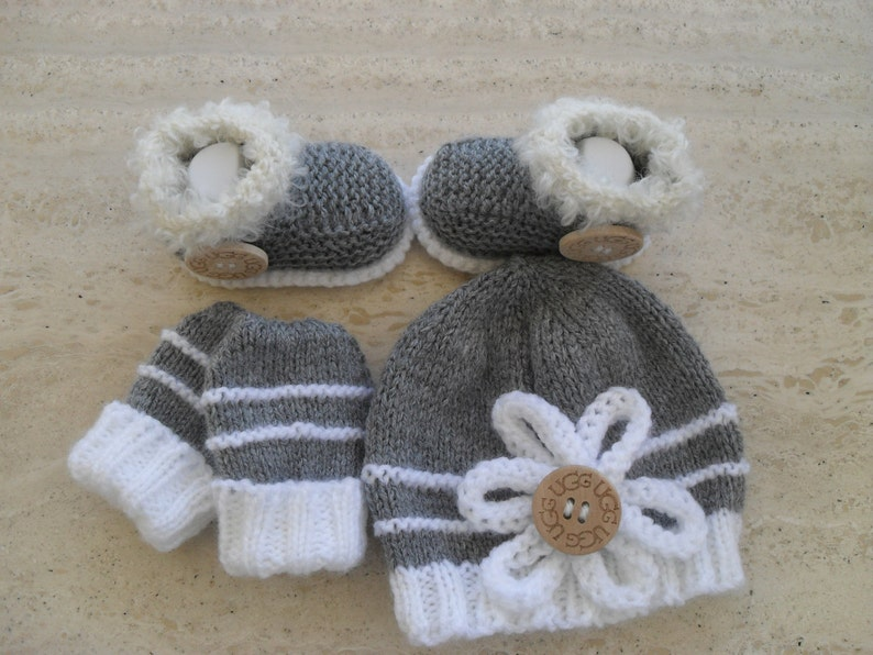 99a838c102cf Instant Download Knitting Pattern Baby Hat Booties   Mittens