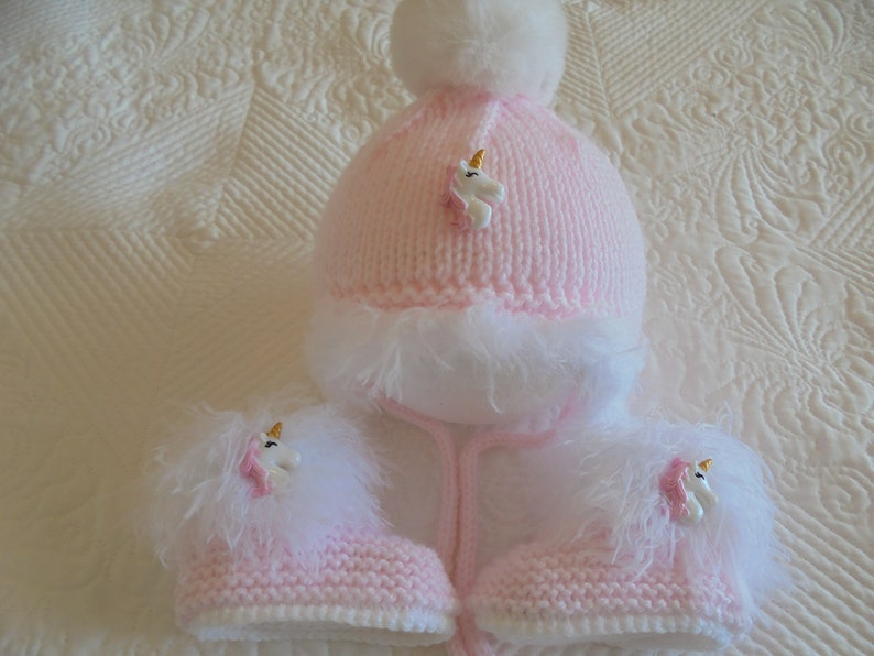 28cceef9286 Instant Download Knitting Pattern Baby Girl Unicorn Hat And