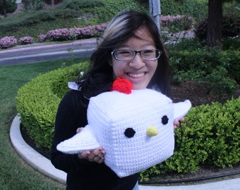 Large Chicken Plush ( Crocheted Chicken Plush)
