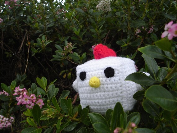 Baby Hentai A Fancy Crocheted Plush Chicken with a Bowtie