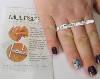Ring Sizing Gauge - A Jewelers Must Have - Best way to know your Ring Size- Multisizer