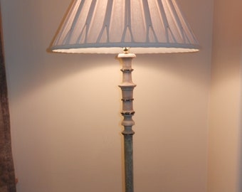 Vintage Floor Lamp with Table and Shade - No Shipping Available, must pick up or pay 100.00 dollars shipping.