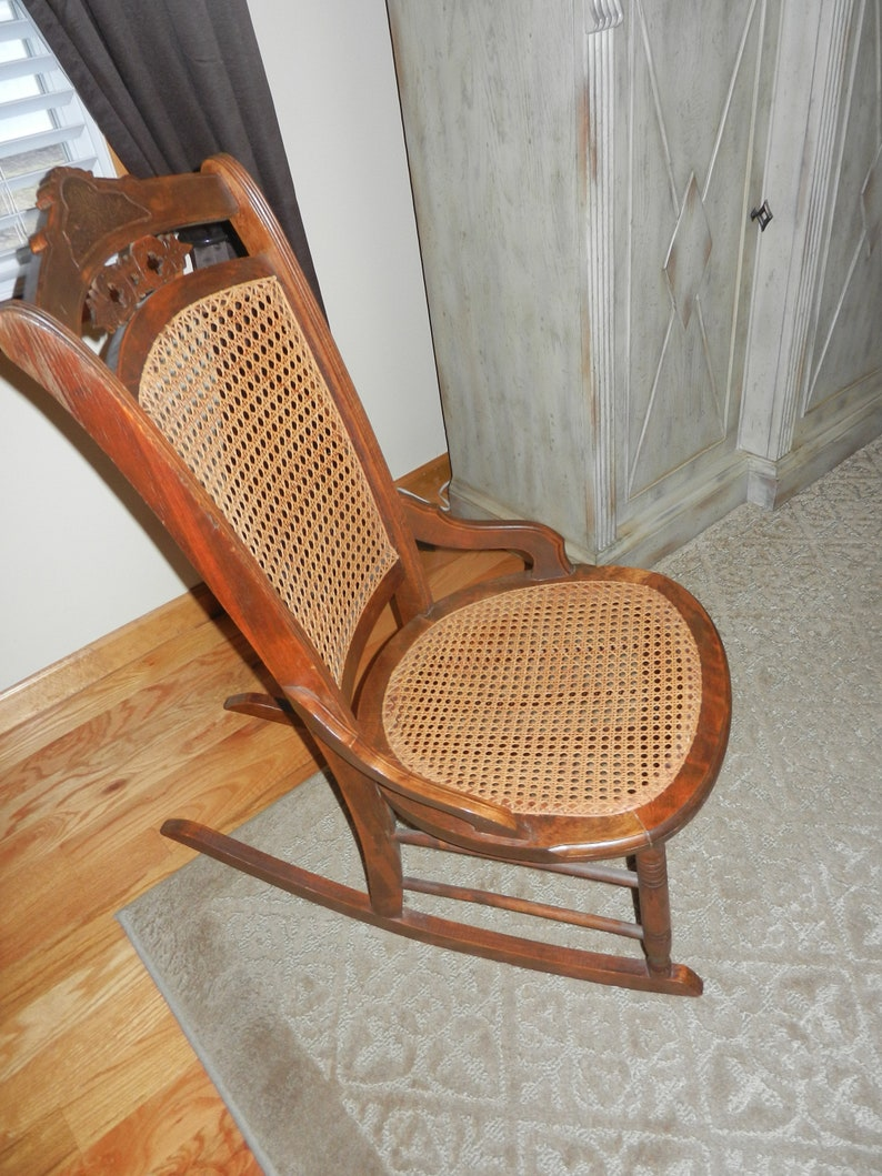 detailed look 9d011 862eb Vintage Cane Rocking Chair for a Young Person
