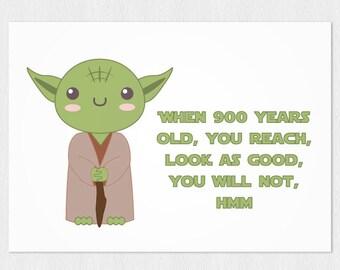 image regarding Star Wars Printable Birthday Cards called Star wars printable card with Chewbacca PDF Do it yourself 6x4 inch Etsy