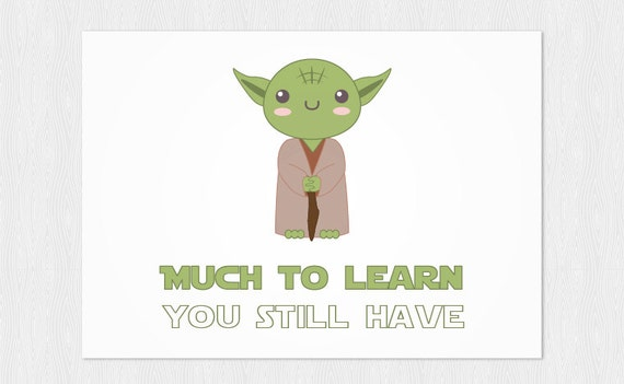 graphic regarding Yoda Printable referred to as Substantially in the direction of understand by yourself nonetheless incorporate, Yoda printable card - PDF Do it yourself 6x4 inch