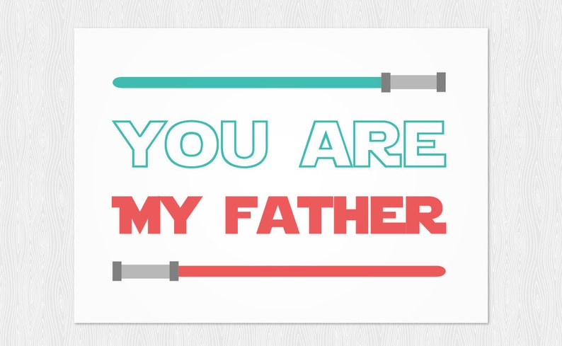 graphic regarding Star Wars Printable Card identified as Fathers working day down load - star wars printable card - Prompt Down load - star wars - PDF Do it yourself - Greeting card Fathers working day - Printable 6x4 inch