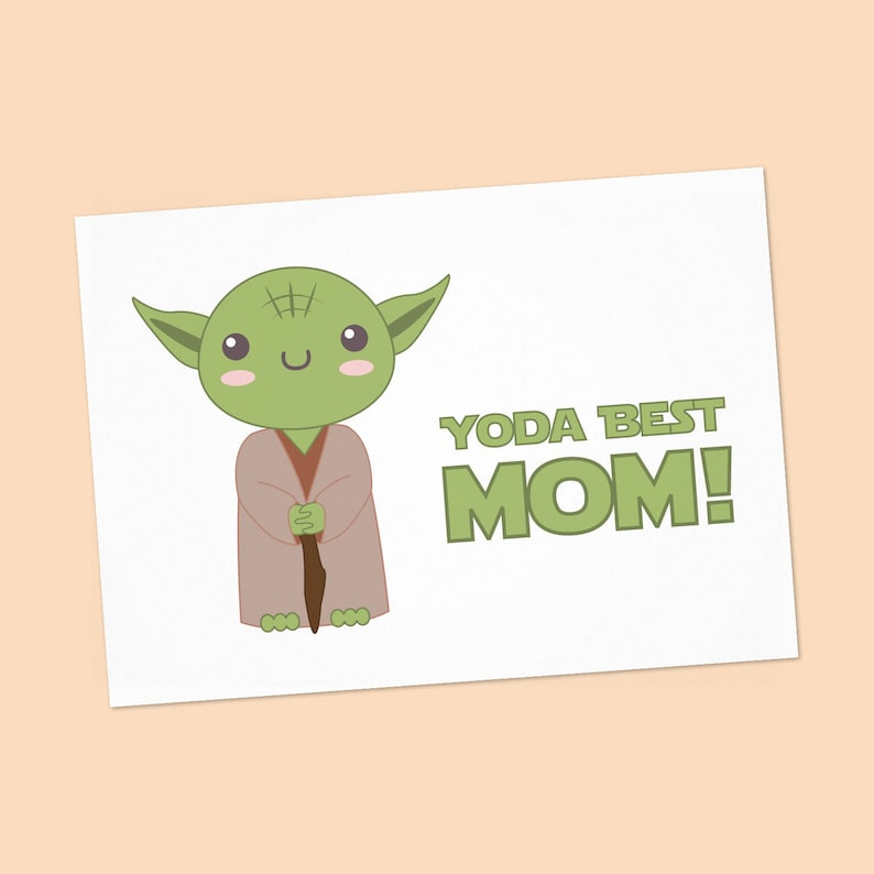 photograph about Star Wars Printable Card identify Yoda Excellent Mother card - Star wars Moms working day obtain card - Star wars printable card with Yoda - Immediate Down load - PDF Do-it-yourself - 6x4 inch